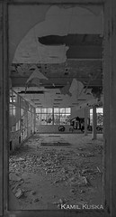Una finestra al passat (Photo Kamil) Tags: white black abandoned blanco window architecture canon arquitectura negro past desolate passat manresa pasado