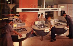 Magic of Motion Exhibits, Museum of Science and Industry, Chicago, Illinois (SwellMap) Tags: museum vintage advertising design weird pc 60s technology fifties display postcard suburbia style kitsch exhibit science retro nostalgia chrome 1950s future postcards americana 50s 1960s unusual roadside googie populuxe sixties babyboomer consumer coldwar midcenturymodern midcentury spaceage atomicage scienceandtechnology