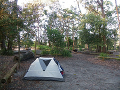 Camp, Green Patch, Booderee National Park, Jervis Bay, NSW, 09/11/09 (Russell Cumming) Tags: camp newsouthwales greenpatch jervisbay boodereenationalpark