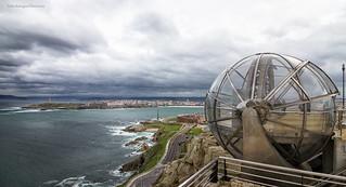 La Coruña desde el mirador del Monte de San Pedro.  (Explore).
