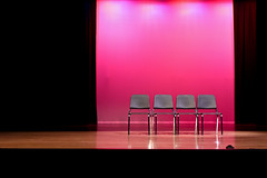 When The Music's Over (TW Collins) Tags: pink lights silent florida empty stage curtain musicalchairs stcloud thespian troupe 1826 whenthemusicsover fourchairs turnoutthelight