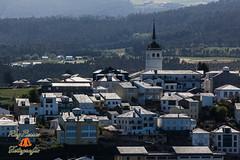 Vista de Castropol desde el Parador de Turismo de Riba