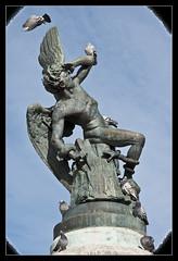 0252-¡QUITA BICHO! EL ÁNGEL CAIDO (Madrid) (--MARCO POLO--) Tags: monumentos
