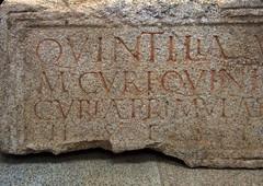 Quintilia (Paulo Heitlinger, tipografos.net) Tags: capitals versalien epigrafia romansepigrahy inscricaoromana