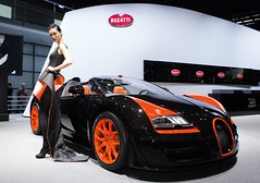 The Vitesse World Record Car revealed at Shanghai Motor Show. (Bugatti Automobiles S.A.S.) Tags: world show car speed shanghai wrc record motor exclusive fastest roadster vitesse opentop 2013