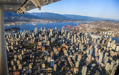 Aerial View of Downtown Vancouver (Claude Schneider) Tags: mountains vancouver downtown air aerialview aerial deepcove burrardinlet stanleypark harbourair seaplane indianarm grousemountain
