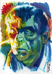 The Ghoul Art by Luis Diaz-10 (Luis Diaz Art) Tags: boriskarloff theghoul artofrobertaragonsketchcards artbyluisdiaz