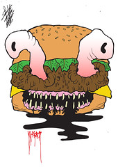 BURGER (VLCERS) Tags: art illustration artwork artist matthew character burger cartoon characters illustrator dexter cartoons fieldhouse scientist cartoonnetwork dexterslaboratory vlcers iheartvlcers