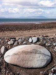 Criffel on stone (allybeag) Tags: beach stone sketch drawing criffel seacoal solawy