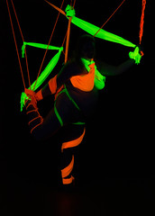 20130427-LRC82272.jpg (ellarsee) Tags: suspension bondage blacklight scarves
