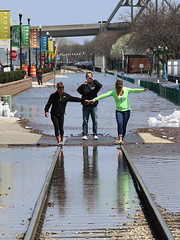 Having Fun with the Flood (JayLev) Tags: railroad train river flood tracks balance peoria illinoisriver iais tzpr