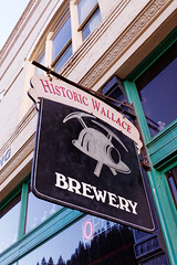 Micro Brewery Sign, Wallace, ID (CT Young) Tags: idaho wallace smalltown silvervalley centeroftheuniverse wallaceidaho idahopanhandle wallaceid shoshonecounty miningcity canonefs18135mmf3556is wallacebrewery