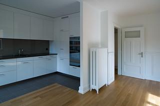 new kitchen . old heater
