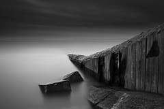 Aberthaw (~SteveBaron~) Tags: longexposure seascape canon coast coastal nd daytime groyne valeofglamorgan haida aberthaw bristolchannel rhoose neutraldensity 400d sgmtechnique