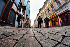 Street view (johanbe) Tags: street color gteborg nikon view sweden gothenburg fisheye gata frg samyang nikond90