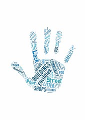 St James Street 'don't like' word cloud Mar 2013 (Big Local) Tags: word words hand handprint stjamesstreet visualise wordcloud wordle biglocal localtrust visualwordcloud