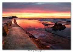 Sunrise - Merewether Baths - 04-05-2013_0035-Framed (DoctorJ73) Tags: ocean sun colour water rock swim sunrise canon flow eos james wave baths 7d danny sundance block merewether