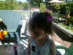Mady with flowers in her hair (LarrynJill) Tags: eugene mady