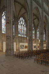 Rouen, Saint-Ouen Abbey Nave Columns and Aisle Windows (Stan Parry) Tags: france abbey architecture troyes gothic medieval rouen normandy middleages gothique abbaye moyenage saintouen 2013 canon5dii