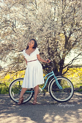 Urban_Carina (alicebmyphotographer) Tags: flowers fashion yellow bikes style fremont dresses actress sj fields shorts skirts railroads mua stylist highfashion ootd