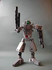Gun-class medium Battlemech (Dead Frog inc.) Tags: fiction japanese robot lego science blueprint scifi mecha mech moc