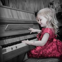 IMG_0824-Edit.jpg (odinthomas) Tags: playing monochrome canon child piano sigma reddress 30mm