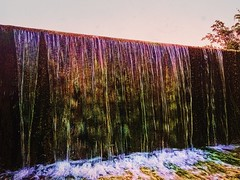 Prismatic Mirror on the Mill Dam (johnnyp_80435) Tags: iridescent texas georgetown waterfall milldam berrysprings