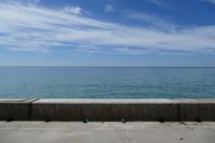 Sky & Sea & Concrete. (Elsie esq.) Tags: englishchannel sea sussex undercliff