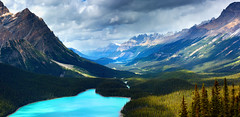 Is this just fantasy? (Anna Gorin) Tags: canada alberta icefieldsparkway canadianrockies peytolake panorama mountains summer clouds travel stormclouds vibrantcolor canon 5diii sigma 70200mm photomerge
