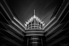 The Pineapple Building (Mark A. Pedregosa) Tags: longexposure blackandwhite monochrome dubai unitedarabemirates leefilter leebigstopper