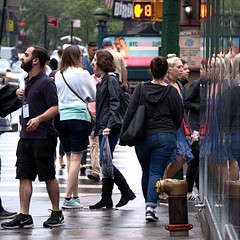 Sidewalk Scene (Photographs By Wade) Tags: street newyorkcity people woman newyork man men women manhattan sidewalk theatredistrict