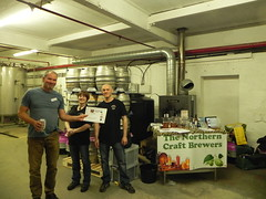 Northern Craft Brewers with their prizes at Wishbone Brewery (wishbonebrewery) Tags: wishbone wishbonebrewery norther craft brewers keighley