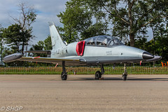 L-29 Albatross, Luchtmachtdagen, Leeuwarden 2016 (harrison-green) Tags: rnlaf dutch foundation alenia aermacchi m346 master luchtmachtdagen leeuwarden ab netherlands aircraft air show airshow holland viper role demo aviation jet combat canon eos 700d sigma 150500mm vehicle airplane hawker hunter t8c outdoor airliner jetliner n294 l29 albatross