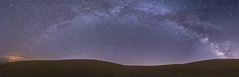 Smooth Sand. Panorama of the Milky Way Over Glamis (slworking2) Tags: brawley california unitedstates us glamis sand dunes milkyway galaxy nighttime night sky desert