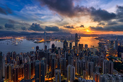 Clarity (blame_the_monkey) Tags: skyline architecture asia blend bluehour china city cityscape hongkong night sunrise travel