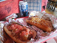 A Hot Dog Lunch (jimmywayne) Tags: westvirginia lesage cabellcounty ddd dinersdriveinsdives hillbillyhotdogs rural mothman beer