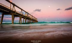 Spit Pier Moon 1 (marcusbird13) Tags: goldcoast australia queensland pier waves ocean water beach sunset surf