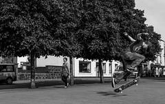 sk8r boi (Chilanga Cement) Tags: nikon nik nikond810 bw blackandwhite skateboard tree trees boy portree street streetphotography student scotland summer
