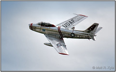 F86 Sabre Jet (mrkyle229) Tags: flying aircraft airplane jet fighter fwa airshow airnationalguard f86 sabre