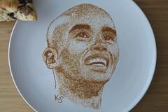 mo farah close up (pedalstrike) Tags: foodart rio2016 olympics mofarah scones