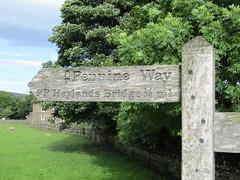 Hawes 6.8.2016 (5) (bebopalieuday) Tags: yorkshiredales wensleydale hawes fingerpost signpost sign pennineway footpath northyorkshire