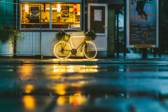 Bike | Kaunas [Explored] (A. Aleksandraviius) Tags: kaunas lithuania lietuva street bike nikon d810 nikoneurope 85mm dark city europe baltic food explore explored