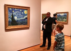 Vincent X 3 - NYC (verplanck) Tags: moma france 19thcentury painting art vincentvangogh starrynight