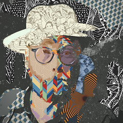 239 | 366 | V (Randomographer) Tags: project366 michael mike doughty musician artist pop star soul coughing singer songwriter author human face digital photoshop portrait 339 366 abstract conceptual