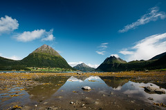 Aldra (dataichi) Tags: reflection symmetry mirror reflect ocean fjord landscape outdoors nature travel tourism destination