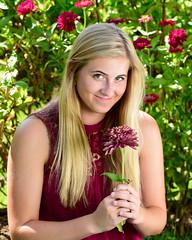 Playful Kayla (R.A. Killmer) Tags: kayla senior seniorphotos portrait smile playful grin smirk eyes blonde flowers sweet funny cute bethelpark