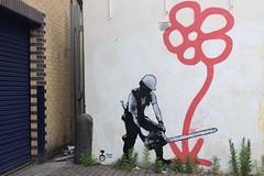 Trust Icon_1696 Andrews road London (meuh1246) Tags: streetart londres london trusticon andrewsroad casque fleur hackney