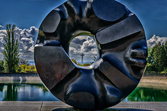 Keep your eye upon the doughnut, and not upon the hole. (matthucke) Tags: blacksun seattle volunteerpark granite