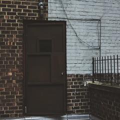 (charlie rocket photography) Tags: door roof brooklyn brick paint square rz67 mamiya h20 65mm