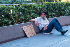 Tempted (tubblesnap) Tags: beggar hobo street panhandler las vegas need money for bullets